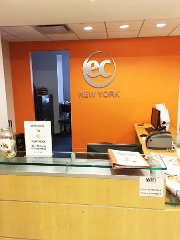 EC ニューヨーク校へ休学留学
